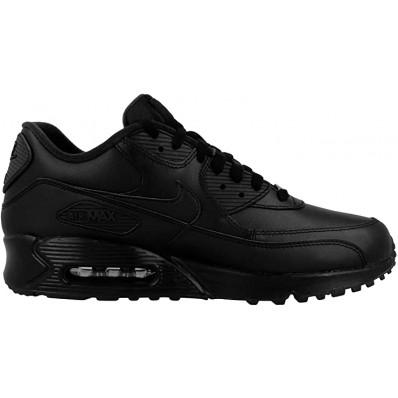 air max 90 leather uomo nero